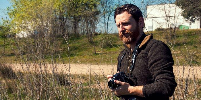 Yo haciendo fotos en el campo