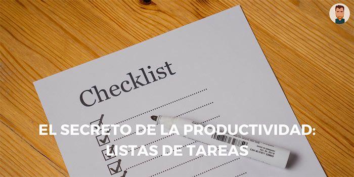 El secreto de la productividad: listas de tareas