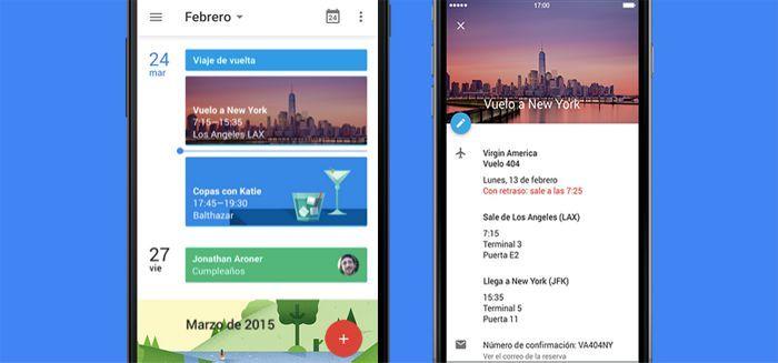 Aplicación móvil de Google Calendar