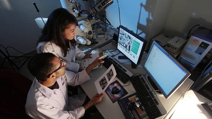 Investigadores frente al ordenador