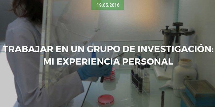 Trabajar en un grupo de investigación: mi experiencia personal