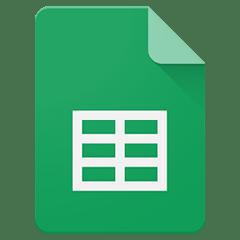 Logotipo Hoja de Cálculo de Google